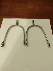 """Coronet Ladies/Childs Stainless Steel Spurs with rounded 3/4"""" long rounded shank"""