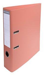 Exacompta A4 Salmon Orange Lever Arch Files Premium Pastel Colours - Pack 10