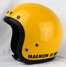 NICE!!! VTG '75 BELL MAGNUM MAG III 3 MOTORCYCLE CAR RACING YELLOW HELMET 7 3/8