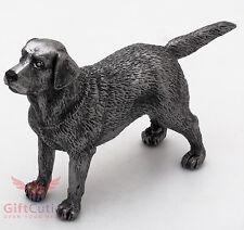 Tin Pewter Figurine of Labrador Retriever Dog IronWork