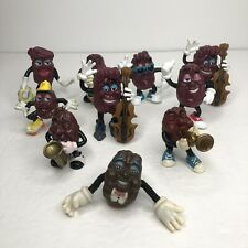 "Vintage 1980's California Raisins Band Figures Lot Toys Applause 2"""