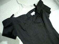 Ladies Pencil Dress Size M Sexy Black Off Shoulder Form Fitting Style $300 Value