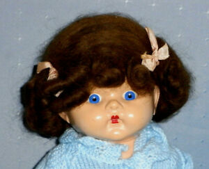 Vintage Wendy Wig with Original Ribbons - 12 inch doll (NO DOLL)