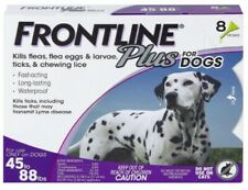 Frontline Plus Flea and Tick Treatment for Dogs (Large Dog, 45-88 lbs, 8 Doses)