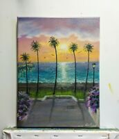 "Art SALE ENDS 11/28- 12""/9""OILpainting,Manhattan Beach,California,Seascape"