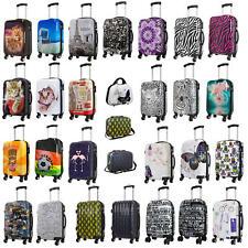 Reise Koffer Trolley Kofferset mit Polycarbonat Hartschale und Print Motiven PM