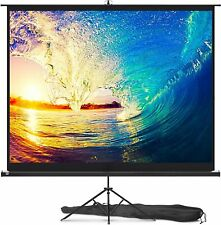 """Projector Screen with Stand Indoor and Outdoor Projection Screen 100"""" & 84"""""""
