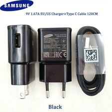 Original Samsung Fast Charging Charger Adapter USB Type-C Cable S8+ S9 S10 Plus
