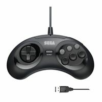 Retro-Bit SEGA Genesis Controller 6-Button USB Wired Arcade Pad Gamepad Black