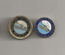ROSYTH CIVIL SERVICE 2 DIFFERENT BOWLING CLUB BOWLS BADGES