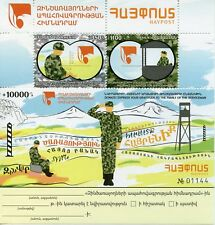 Armenia 2017 MNH Insurance Foundation Servicemen 2v M/S Military Stamps