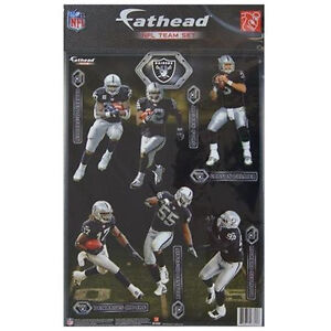 Oakland Raiders FATHEAD Team Set NFL Official  12 Vinyl Wall Graphics RARE 2012