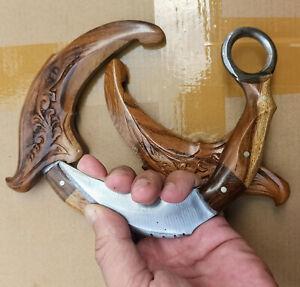 karambit blunt exercise train KNIFE Handmade PENCAK Silat BEGINNERS JAVA