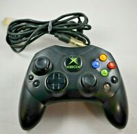 Original Microsoft Xbox S-Type OEM Black Wired Controller With Breakaway Cable