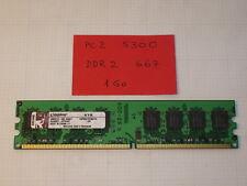 Barrette RAM   Kingston PC2 5300  DDR2 667 de 1Go en 240 pins