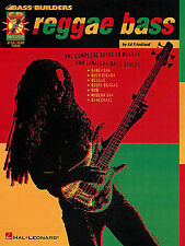 Learn Bass Guitar Builders REGGAE SLAP SKA DUB TAB Music Book AUDIO LESSON GUIDE