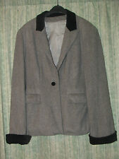 BLACK GREY JACKET BLAZER with wool, SIZE S GREAT CONDITION Check the exact size