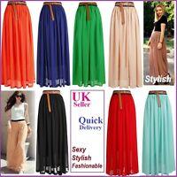 WOMEN Sexy lady Asym Chiffon Skirt Long Maxi Dress Sex Elastic Waist 9 Color ONE