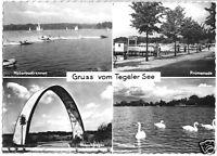 AK, Berlin Tegel, Gruß vom Tegeler See, vier Abb., um 1961
