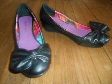 Madden Girl Black Wedge Heel Shoes New Without Box! Box 7 M B Medium CUTE!