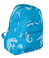 Girls Seahorse Nautical Ocean Life Toddler Backpack Mini Small Canvas