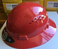 HDPE Full Brim Hard Hat with Fas-trac Suspension (8 colors to choose from)
