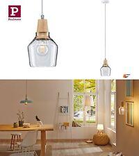 Paulmann Pendelleuchte Neordic Ylvie 1-flammig Holz Glas E27 Länge kürzbar 79632