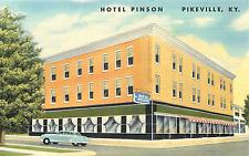Pikeville Ky Hotel Pinson 1950 Linen Postcard