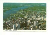 AERIAL VIEW OF THE NATION'S CAPITAL, OTTAWA, ONTARIO, CANADA CHROME POSTCARD