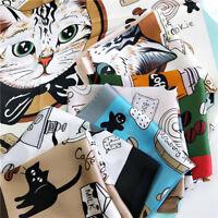 70x70 Women Fashion Silk Feel Satin Square Scarf Animal Head Neck Hair Tie Band