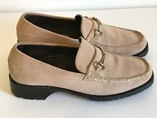 COLE HAAN Horse bit Loafers Women's Size 6 Pink Suede Slip On Flat Shoes