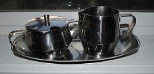 18/8 Stainless Steel Creamer Sugar Tray set of 3