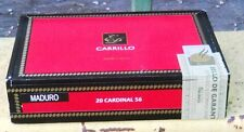empty EP CARRILLO CARDINAL 56 Cigar Box clean RED Excellent Condition Dominican