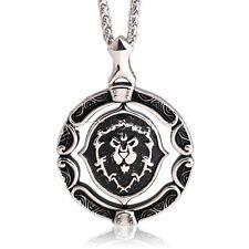 WOW World of Warcraft Horde Symbol Alliance Necklace Titanium Steel Pendant