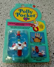 POLLY POCKET WEE WILLIE'S STUNT PLANE ON CARD MATTEL POCKET SIZED RESEALED