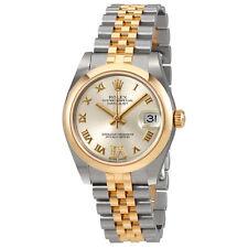 Rolex Datejust 31 Silver Dial Steel and 18K Yellow Gold Ladies Watch 178243SRDJ