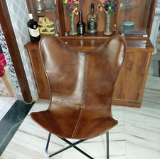 Butterfly hand made chair brown