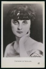 France Royalty Countess of Noailles original old c1920s photo postcard