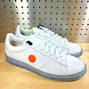 Converse x ROKIT Pro Leather 169217C Patent Leather Ox Orange Dot Clear Sz 10