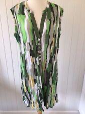 Threadz Tunic Dress Top - Size Small - 16 - 18 - Geometric Greens