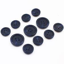 11pc Extra Thick Dk Blue Navy Faux Horn Button Suit Jacket Blazer Sport Coat Set