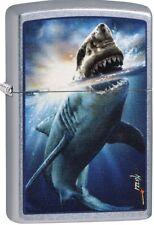 Zippo 2018 Mazzi Vicious Shark Attack Street Matte Windproof Lighter 29568 *NEW*