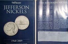 "1968-2009  JEFFERSON NICKELS FOLDER, Partially-Filled ""Starter Set"" w/ 27 Coins"
