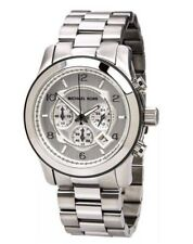 MICHAEL KORS MK8086 Oversized Runway Silver Tone Chronograph Men's Wrist Watch