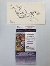 Hhof Bruins Great #4 Bobby Orr Signed Autograph 3x5 Index Card Jsa - Free S&H!