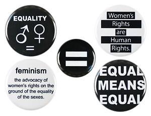 Feminist Girl Power Button Badge Pin Set - 32mm (1.25 Inch)
