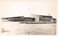 Yale Michigan~New Elementary School w/Slanted Roofs~Postcard RPPC c1950