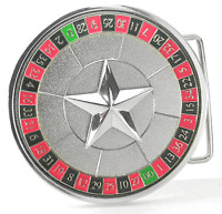 ROULETTE Casino Style Belt Buckle