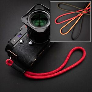 Braided Rope Camera Wrist Strap - Totally Customisable - Fits Leica, Fuji etc