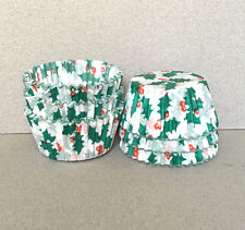 Holly Cupcake Liners, Holly Cupcake Wrappers, Holly Baking Cups, Muffin Wrappers